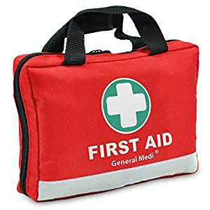 First Aid Kit -309 Pieces- Reflective Bag Design – Including Eyewash, Bandages, Moleskin Pad and Emergency Blanket for Travel, Home, Office, Car, Camping, Workplace