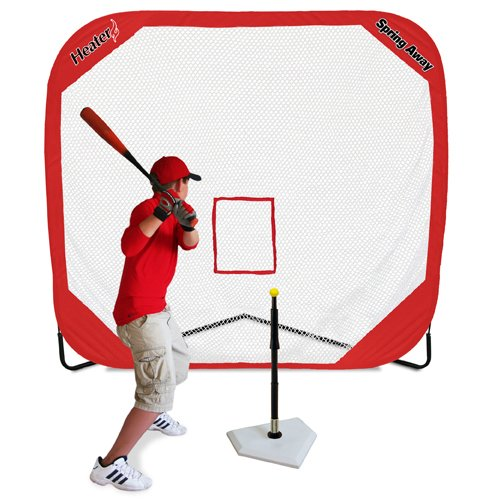 Heater Sports-Spring Away Tee & Spring Away 7' X 7' Pop-Up Net by Heater Sports