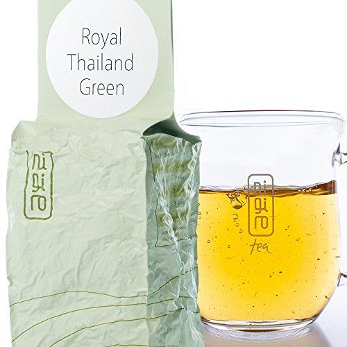 Ancient Thai Tree Green Tea (50 cups/3.5oz) | Nigiro Thailand Green | Low Caffeine | Unique Loose Tea Leaf Selection by Nigiro