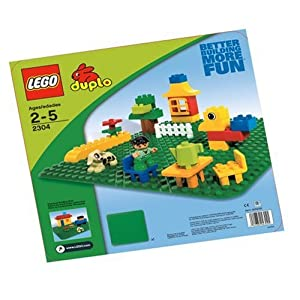 """LEGO Duplo Green Building Plate (15"""" X 15"""") (Discontinued by manufacturer) - 51up7eFAkFL - LEGO Duplo Green Building Plate (15″ X 15″)"""