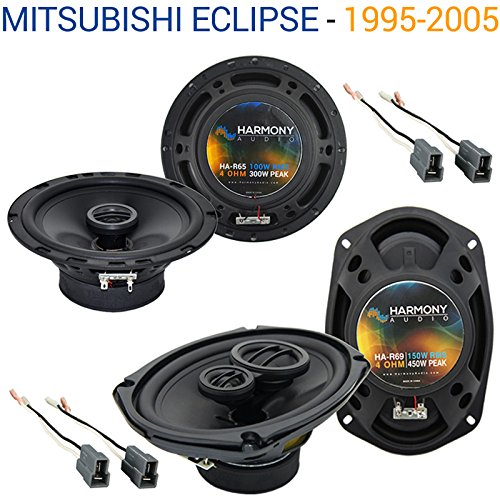 - Fits Mitsubishi Eclipse 1995-2005 OEM Speaker Replacement Harmony R65 R69 Package
