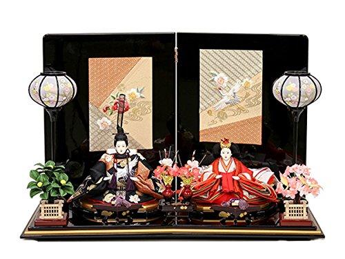 雛人形 コンパクト 小さい 伝統工芸 打掛衣装使用 ひな人形 お雛様 初節句飾り お祝い 親王飾り 2人 平飾り コンパクト   B0785ZCLHK