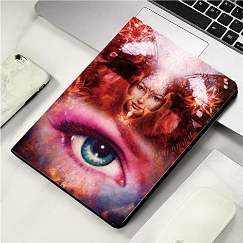 Stylish Print case for iPad air, ipad air2, Soft Back Ultra-Thin TPU Leather Smart case,Beautiful Painting Goddess Woman with Bird Phoenix on Your face with Ornamental Mandala and -