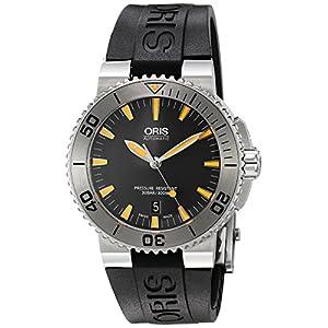 Oris Hombre 73376534158rs34Aquis Pantalla analógica Swiss–Reloj automático Negro 9