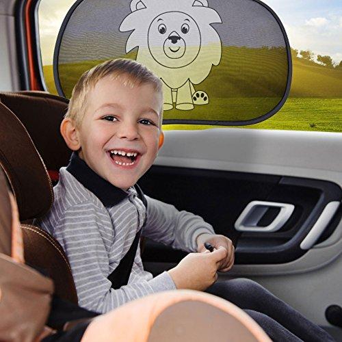 Auto adhésif pare-soleil de voiture pour Enfant Protection (Paquet de 2) - Blocage des rayons ultraviolets nocifs, Chaleur éblouissante hot sale 2017