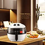 oilless chicken fryer - Oilless XL Air Fryer-KUPPET 7.4QT 8 IN 1 Deep Fryer with Basket-Timer Temperature Control-8 Cooking Presets-Included Recipe Guide, Steamer, Fryer Pan-1400W