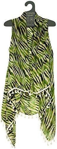 Lavello Sheer Designer Vest, Animal Print from Lavello