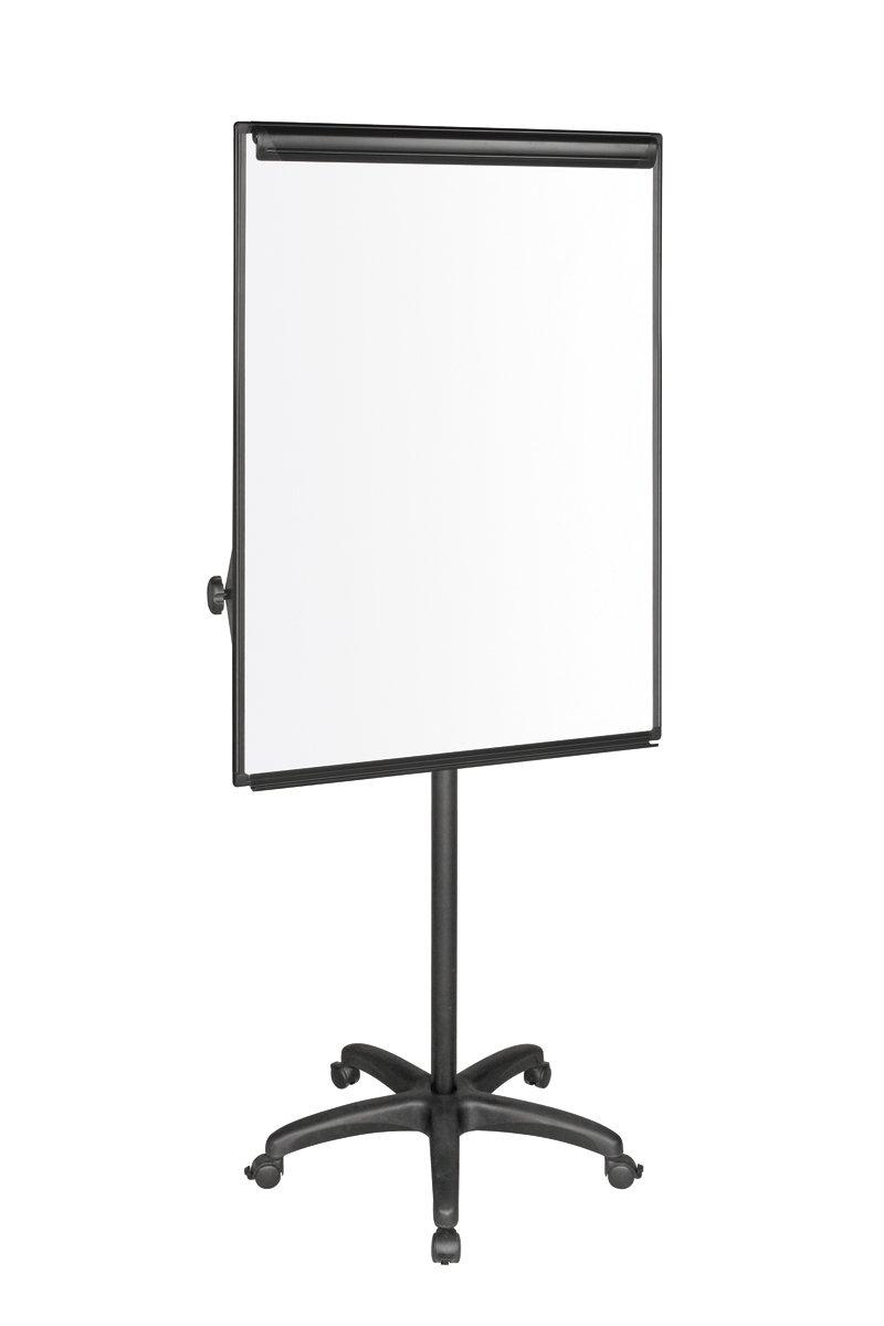 Bi-Office Lavagna Portablocco Portatile Con Prolunghe, Cavalletto Mobile Con Struttura Nera e Cornice Grigia, Superficie Magnetico, Dimensioni Panello Euro - 700 x 1000 mm Bi-Silque EA4806176