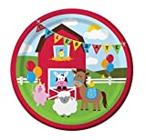 Creative Converting Farmhouse Fun Sturdy Style Paper Dinner Plates (16 Count), 8.75''