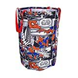 Spiderman Collapsible Kids Laundry Hamper by Disney - Pop up Portable Children's Clothes Basket for Closet, Bedroom, Boys & Girls Clothes - Foldable Laundry Bin with Strong Handles & Design