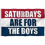 Saturdays are for The Boys Flag 3X5 feet