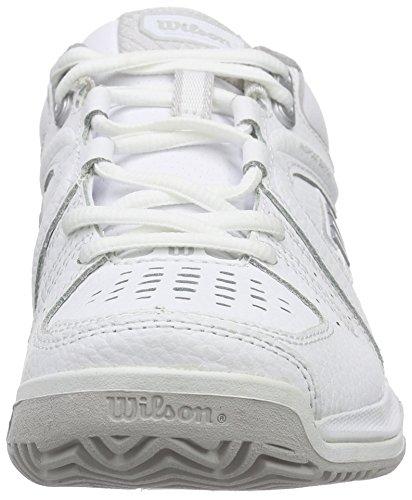 Wilson Nvision Premium W Wh - Zapatillas de tenis Mujer Blanco (White / White / Steel Grey)