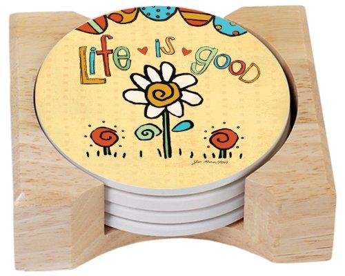 CounterArt Design Absorbent Coasters Wooden