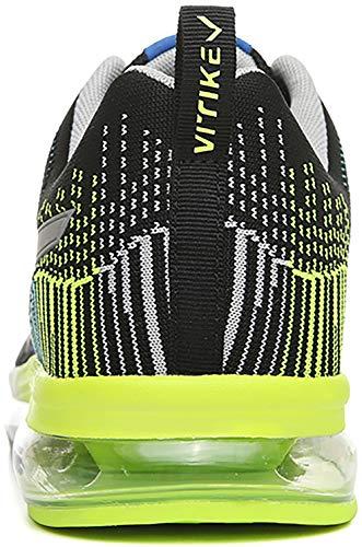 Sportschuhe Light Herren Damen Laufschuhe Turnschuhe Ultra schwarz Atmungsaktives mit VITIKE Unisex Freizeitschuhe 5 Luftpolster Sneakers Pwxdnzv