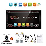 Navigation Seller - Universal 2 Din Android 6.0 Full Touch Car Pc Tablet Double Audio 7 Gps Navi Car Stereo Radio No Dvd Mp3 Player with Bluetooth Stereo Mirror link Wifi