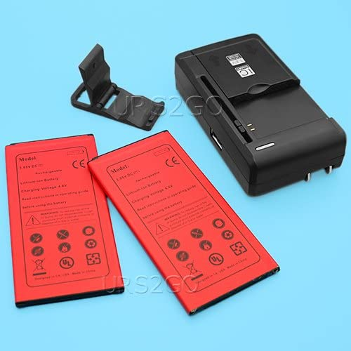 Accessory 2X 3700mAh High Power Excellent Standard Battery Multi Function Desktop Home Rapid Charger Folding Bracket for Samsung Galaxy J7 Sky Pro S727VL Smartphone
