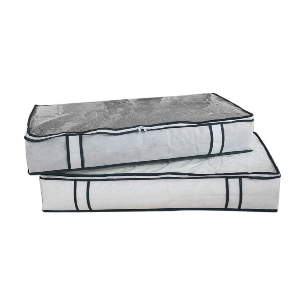 VKTECH Non-Woven Quilt Clothing Blanket Organizer Bag Large Capacity Bag Closet Under-Bed Storage Case