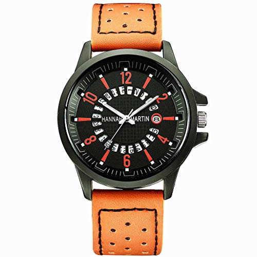 Luxury Men Sport Watches, Fashion Classic Roulette Scale Calendar Leather Belt Men's Business Quartz Watch for Men Boys Gift Holiday Present Hot!
