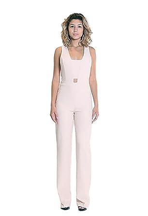 ba01e5f8e9 Amazon.com: Karina Grimaldi Anahi Cut Out Jumpsuit in Blush (Large ...