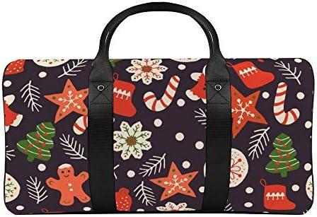 ボストンバッグ ダッフルバッグ クリスマス クッキー スポーツバッグ 旅行バッグ 旅行カバン メンズ レディース ジムバッグ キャリーオンバッグ 大容量 トラベルバッグ 収納バッグ ショルダバッグ カート固定ロープ付き
