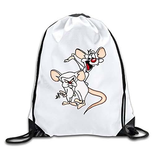 Pinky And The Brain Lightweight 100% Polyester Drawstring Backpack White One - Kors Drake Michael
