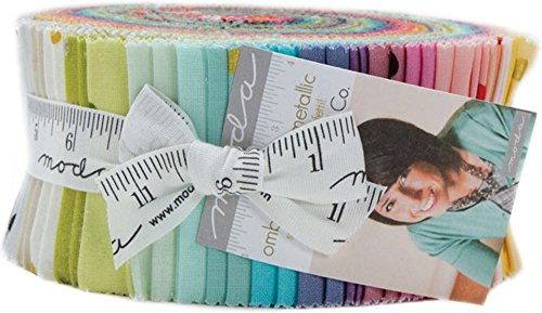 Metallic Ombre Confetti Jelly Roll - 2.5'' Cotton Strips by V & Co For Moda by Moda Fabrics (Image #2)