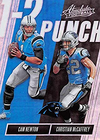 Amazon.com  2018 Absolute Football One Two (1-2) Punch  6 Cam Newton Christian  McCaffrey Carolina Panthers Official NFL Trading Card made by Panini  ... 6d7ca7e01