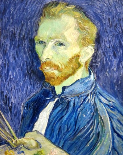 Self-portrait 1889 by Vincent van Gogh Poster Photo Art Posters 11x14
