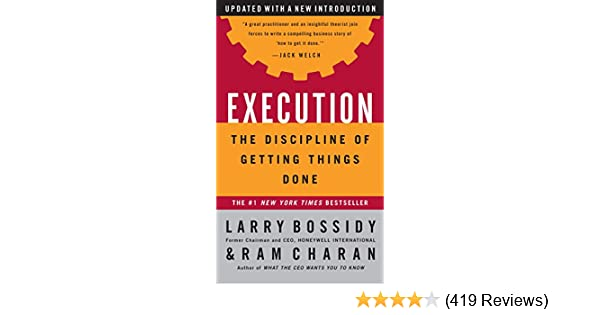 Execution: The Discipline of Getting Things Done mobi download book