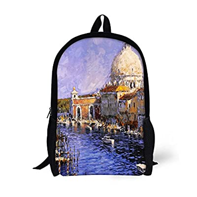 ThiKin Painting Children Backpack Cute Kids School Book Bags