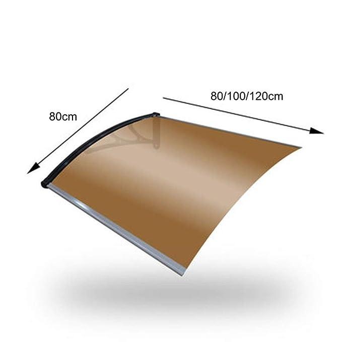 Size : 60/×180cm Lw Canopies Marquesina for Puertas Y Ventanas Tejadillo De Protecci/ón Toldo Cubierta De