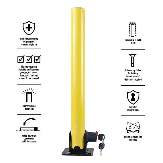 Amazon.com: Oklead - Candado de aparcamiento plegable, 4 ...