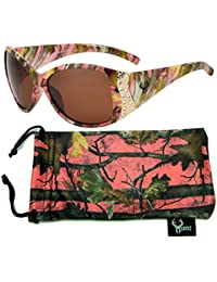 Pink Camouflage Polarized Sunglasses for Women Genuine...