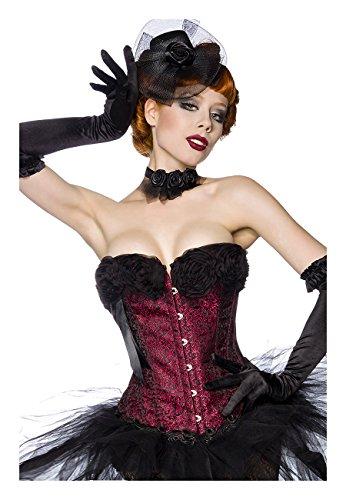 Angies Glamour Fashion - Corsé - para mujer blanco / rojo