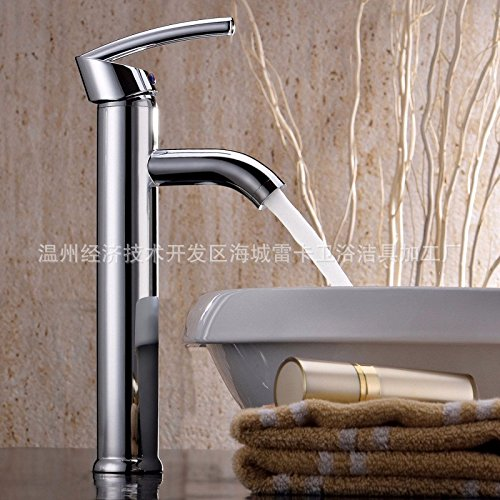 Hlluya Professional Sink Mixer Tap Kitchen Faucet Single Handle chrome-copper hot and cold water basin mixer