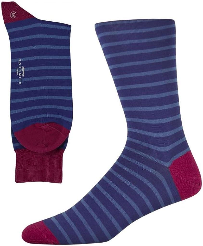 Soxsmith Best Quality Fine Gauge Mens Striped Cotton Socks