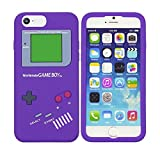 OBiDi - Gameboy Style Silicone Case for Apple iPhone 7 (4.7 inch)Smartphone - Purple