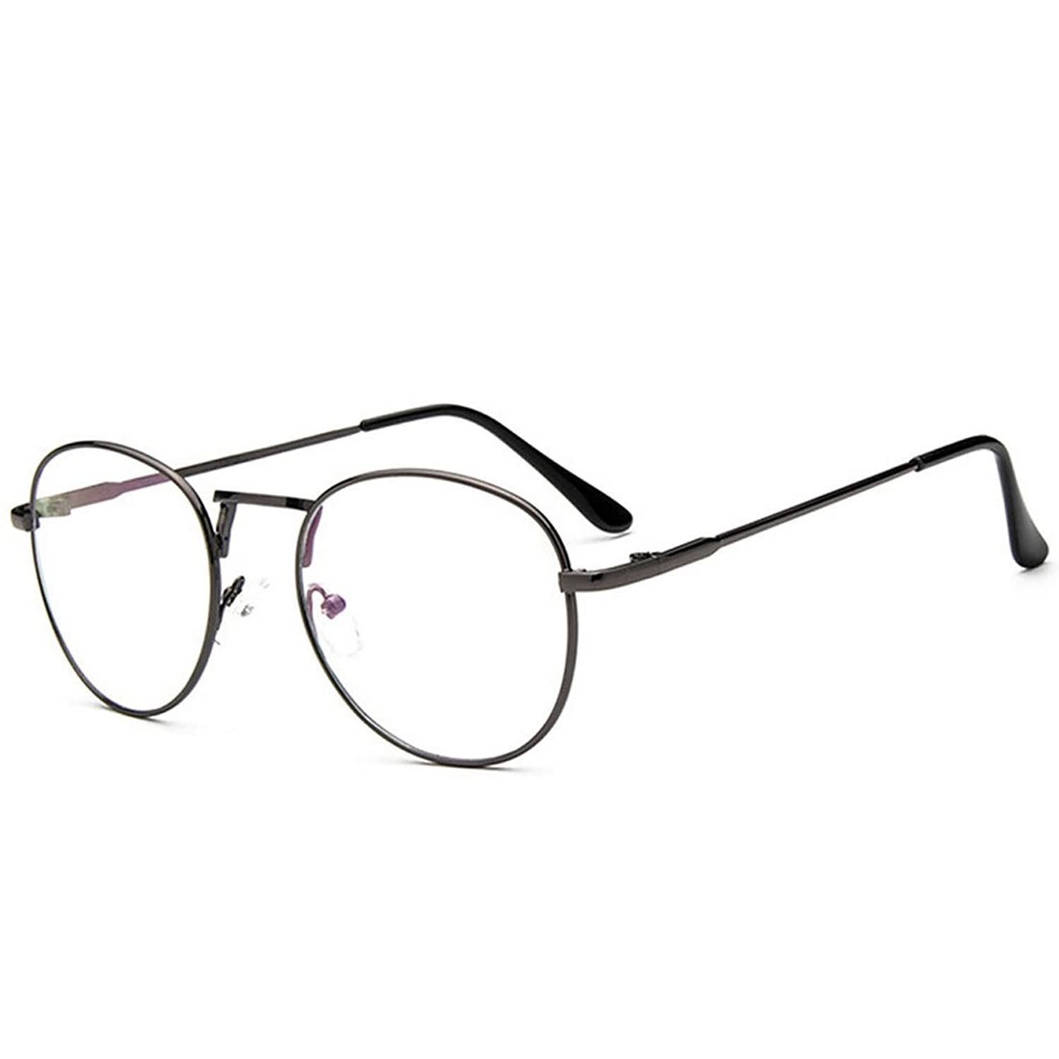 D.King Clear Lens Eyeglasses Metal Frame Retro Vintage Fashion ...