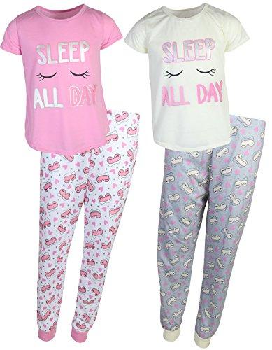dELiA*s 'dELiAs 2-Pack Girls Pajama Sleepwear Sets (2 Full Sets) (14-16, Sleep All ()