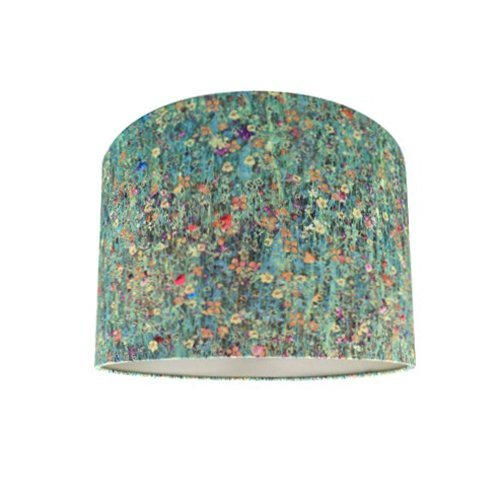 Drum Lamp Shade Made With Liberty Floral Mawston Meadow Dew Fabric with Champagne Lining Ceiling Light Shade