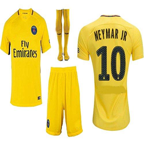 wholesale dealer 6d9ad b7b8b Kid / Youth Paris Saint-Germain PSG FC 2017 2018 17 18 Replica Home & Away  Jersey of Neymar Jr, Cavani & Di Maria (Neymar Jr Away,Size 18 (2-3 Years  ...