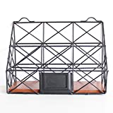 Canyixiu Home Office Desktop Organizer Mesh Office Supplies Desk Organizer Caddy, 2 Compartments, Black for Home for Office, School and Home Use