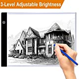 A4 Lightbox Drawing Light Tracing for Art Ultra-thin Light Table for Artists with 3 Brightness Adjustable,Power by USB