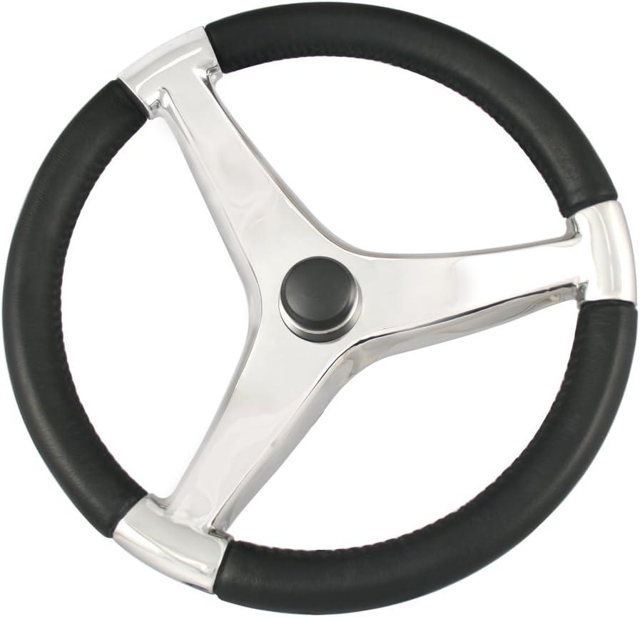"""Ongaro Marine Boat Steering Wheel 316 Cast Stainless Steel 13.5/"""" diameter"""