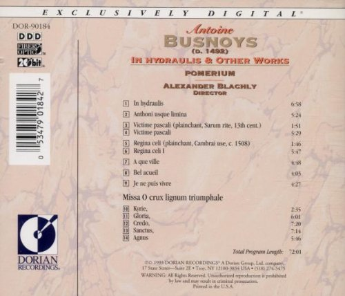 Busnoys: In Hydraulis & Other Works