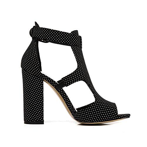 7088a8e7097f9 Pailan Women Sexy Peep Toe Ankle Strap Chunky Heels Sandals