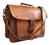 15 Inch Retro Ship Hunter Leather Laptop Messenger Bag Office Briefcase College Bag