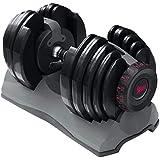 Fitness House Mancuernas ajustables - Aparato para mancuernas y musculación, color negro, 24kg ajustable, conjunto de 2