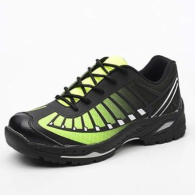 QINGMM Punta Acero Zapatos De Trabajo De Seguridad, Construcción Industrial Botas, Mujeres De Los Hombres De Peso Ligero Resistente A Los Pinchazos Deportes Zapatillas De Deporte,Verde,37EU: Amazon.es: Ropa y accesorios