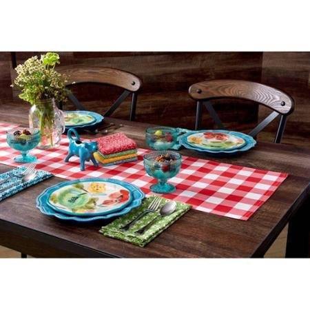 The Pioneer Woman Charming Check Reversible Runner, Red
